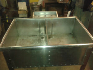 Commercial Grade Stainless Steel 2 Pot Sink