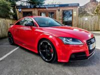 2014 AUDI TT COUPE 2.0TDI ( 170ps ) QUATTRO S TRONIC BLACK EDITION IN RED