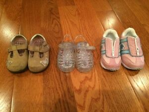 Girl shoes and sandals. Infant size 3