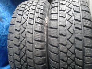 FOUR WINTER TIRES 215/65R16/235/70R16 ON CARAVAN RIMS  TRURO 4