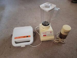 Gaufrier / waffle maker, blender, mini mixer /mini mate grinder