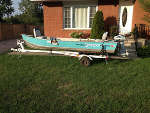 Boat, motor, trailer for sale