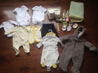 Lot of 0-3 mth gender neutral clothes
