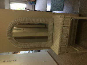 Last chance to buy wicker/desk vanity with drawer and mirror ...