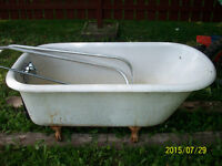 cast iron tub and sink