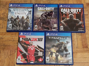 PS4 Games - Perfect Condition ($10-$20)