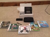Nintendo DSi with games and accessories