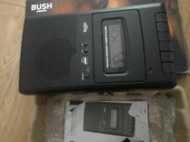 BUSH CASSETTE TAPE RECORDER.