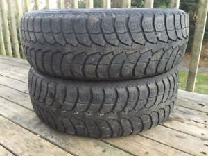 Two 185/65R15 Winter Tires Excellent Tread