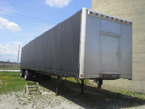 "1999 benson aluminum flat bed 48' 102"" wide with new quickdraw"