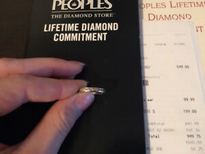 14k white gold wedding band from peoples jewelry