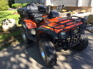 Atv with extra accessories