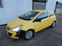 61 Vauxhall Corsa 1.0i ecoFLEX Excite Damaged Salvage Repairable 1 Owner