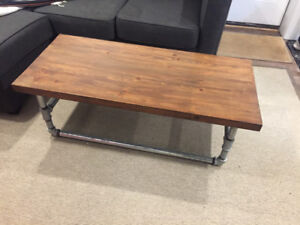 Industrial Wood/Metal Coffee Table