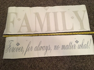 FAMILY vinyl wall decals/quote