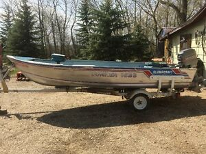 16 Foot Aluminum Boat & Motor for Sale