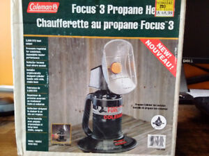 """Coleman 3"""" Propane Heater camping - Use once"""