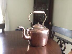 "Victorian 12"" copper kettle"