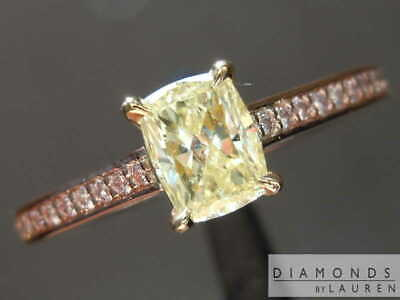 0.52ct Yellow VS2 Radiant Cut Diamond Ring R8467 Diamonds by Lauren