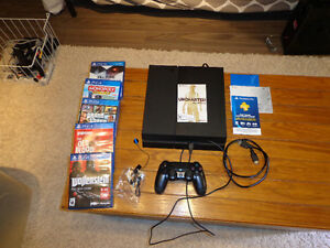 PS4  for sale with 5 games