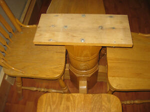 ALL OAK TABLE AND CHAIRESIN GREAT CONDION Peterborough Peterborough Area image 6