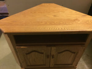 Mennonite solid oak corner storage unit