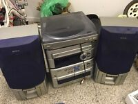Aiwa CD/tape and record player