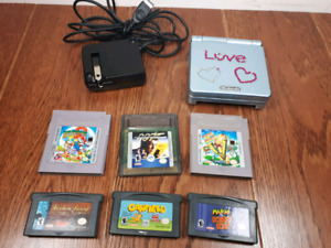 Nintendo Gameboy Advance SP and games