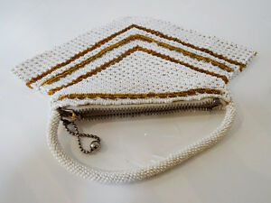 ART DECO beaded HANDBAG Czechoslovakia CHEVRON PATTERN 1920s-40s Kitchener / Waterloo Kitchener Area image 9