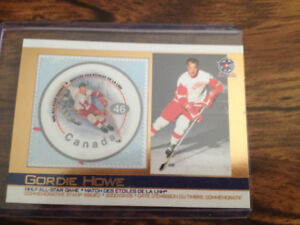 Gordie Howe Card and Postage Stamp from Canada Post 2000