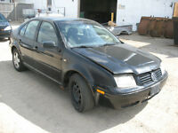 1999 VOLKSWAGEN JETTA FOR PARTS @ PICNSAVE WOODSTOCK