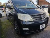 TOYOTA ALPHARD CAMPERVAN WITH FULL SIDE CONVERSION AND ROCK & ROLL BED