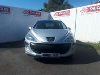 2009 09 PEUGEOT 308 1.4 VTi S 5DOOR.FANTASTIC VALUE.FINANCE AVAILABLE,PX WELCOME