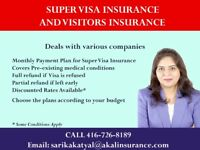 VISITORS INSURANCE, SUPER VISA INSURANCE, STUDENT INSURANCE  & T