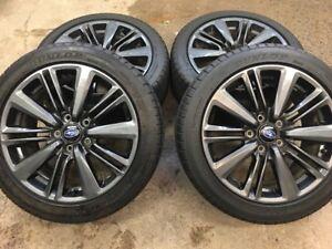 Subaru WRX OEM Wheels + Dunlop Sport MAXX RT