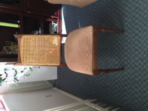 4 chairs with cane backs