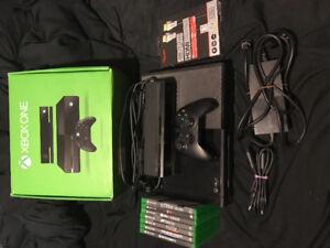 Xbox One avec Kinect, manette, jeux et câbles 4K