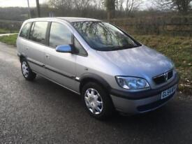 Vauxhall/Opel Zafira 1.8i 16v auto Design 12 MONTHS MOT
