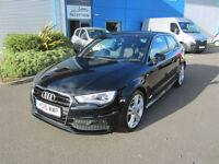 Audi A3 2.0TDI ( 150ps ) 2015MY S Line 3 Door Black LOW MILEAGE
