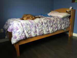 For Sale - Used Twin Size Solid Wood Bed- Maple