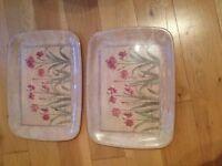 Dinner trays x 2