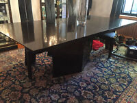 GRANITE DINING TABLE (sits 12 people)