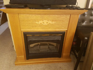 Solid oak electric fireplace home or cottage