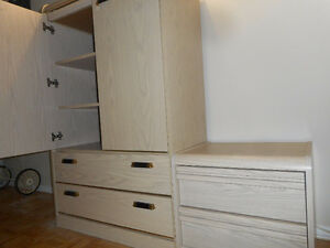 Dresser and bed side drawers