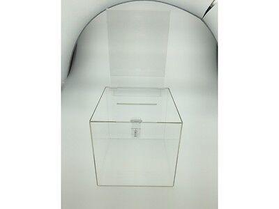 Clear Acrylic Ballot Suggestion Box 10x10 W Header