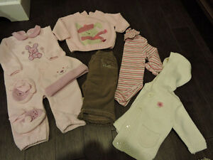 Fall/Winter 6-9 mth girl clothing Lot