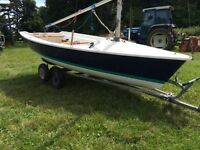 Laser 13 13630 sailing dinghy boat in vgc with combi trailer