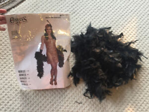 1920's costume and feather boa (size small)