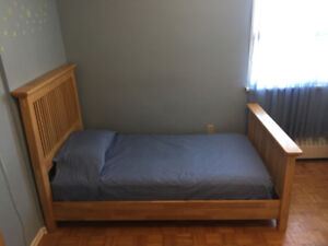 2 Twin Real Wood Beds. MATTRESSES NOT INCLUDED.