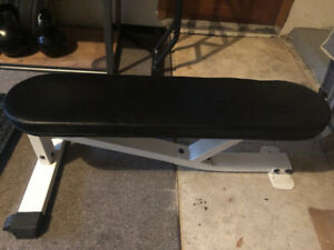 Heavy duty flat bench/chin up bar for sale.